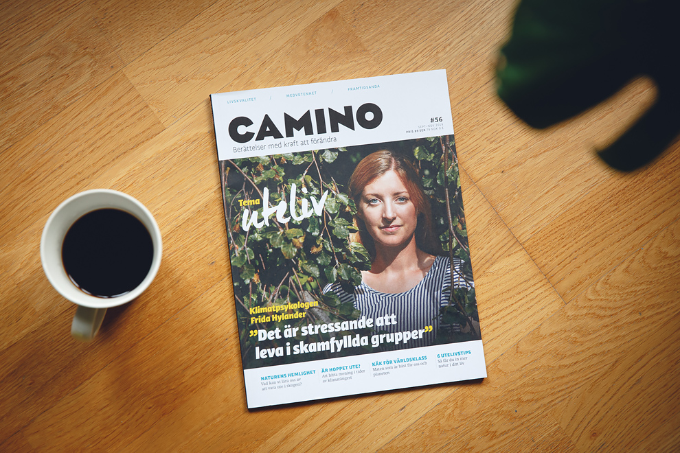 Camino magasin med Frida Hylander på omslaget